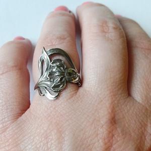 ezüst szecessziós gyűrű    - Meska.hu