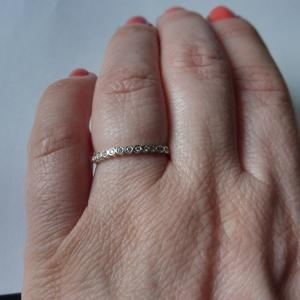 ezüst sorköves gyűrű (piroekszer) - Meska.hu