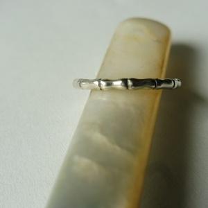 ezüst bambuszos gyűrű  , Ékszer, Gyűrű, Kerek gyűrű, Ékszerkészítés, Ötvös, Meska