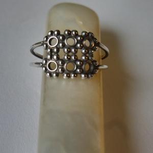 -30%  ezüst kétsoros gyűrű  (piroekszer) - Meska.hu