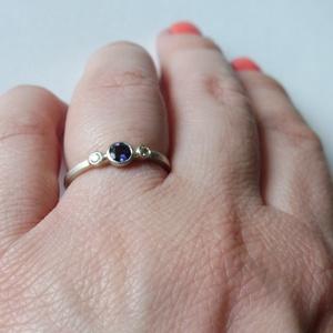 iolitos ezüst gyűrű (piroekszer) - Meska.hu