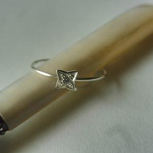 -30%  ezüst gyűrű csillag formával   (piroekszer) - Meska.hu