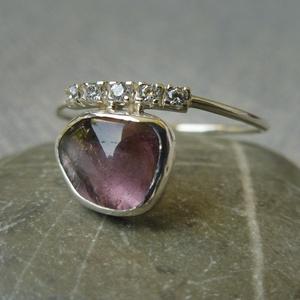 ezüst gyűrű turmalinnal - Meska.hu