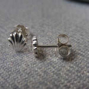ezüst kagyló fülbevaló - ékszer - fülbevaló - pötty fülbevaló - Meska.hu