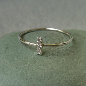 3 köves ezüst gyűrű  - Meska.hu