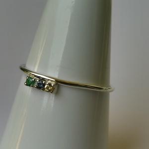 színes ásványos ezüst gyűrű  - Meska.hu