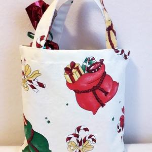 Karácsonyi  kistáska ajándék átadásra, NoWaste, Bevásárló zsákok, zacskók , Táska, Divat & Szépség, Táska, Szatyor, Varrás, NOWASTE én is környezetvédelem érdekében.   Karácsonykor  rengeteg csomagolóanyag megy a kukába.\nMik..., Meska
