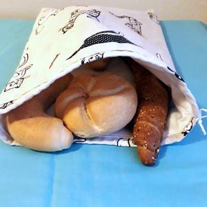 Nagy kenyérzsák ,kenyér ,péksütemény tárolására, NoWaste, Textilek, Bevásárló zsákok, zacskók , Textil tároló, Táska, Divat & Szépség, Táska, Szatyor, Varrás, Használjunk minél kevesebb műanyagot.\nEzt a zsákot,akár magaddal is viheted,és ebbe kéred\na pékárut...., Meska