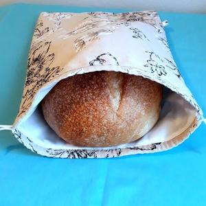 Nagy kenyérzsák ,kenyér ,péksütemény tárolására,virágos (Pirosmami) - Meska.hu