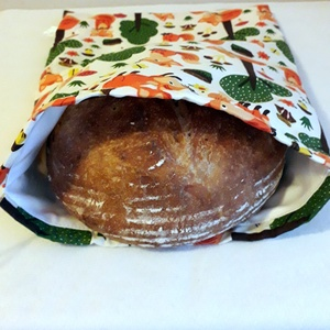 Nagy kenyérzsák ,kenyér ,péksütemény tárolására, NoWaste, Textilek, Bevásárló zsákok, zacskók , Textil tároló, Kulinária (élelmiszer), Varrás, Használjunk minél kevesebb műanyagot.\nEzt a zsákot,akár magaddal is viheted,és ebbe kéred\na pékárut...., Meska