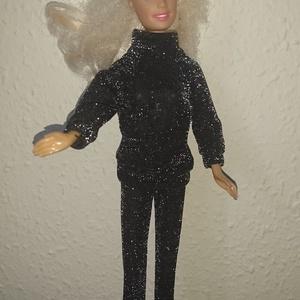 """Barbie babaruha \""""Mónika\"""", Gyerek & játék, Játék, Baba játék, Baba, babaház, Varrás, Barbie babaruha, fekete, nagyon divatos alkalmi viselet :-), Meska"""