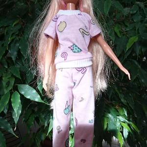 """Barbie pizsama \""""Szonja\"""", Gyerek & játék, Játék, Baba játék, Baba, babaház, Varrás, Barbie babaruha, női pizsama, éjszakai használatra ideális viselet. :-) , Meska"""