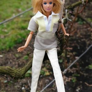 Barbie babaruha galléros póló sárga, Gyerek & játék, Baba-mama kellék, Játék, Baba játék, Varrás, Itt a tavasz! :-) Új tavaszi kollekció készült, aminek része egy galléros, sárga színátmenetes tavas..., Meska