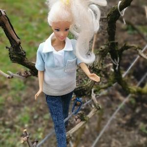 Barbie babaruha kék galléros póló , Gyerek & játék, Baba-mama kellék, Játék, Baba játék, Varrás, Itt a tavasz! :-) Új tavaszi kollekció készült, aminek része egy galléros, kék színátmenetes tavaszi..., Meska