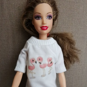 Barbie babaruha matricás póló, Játék & Gyerek, Baba & babaház, Babaruha, babakellék, Varrás, Eladóak a képeken látható matricás pólók Barbie  öltöztetéséhez,. A matricákat magam készítem és vas..., Meska