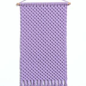 Makramé faliszőnyeg, fali makramé levendula (halvány lila) színben, makramé fali szőnyeg (PixMarket) - Meska.hu