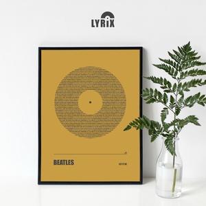 LYRIX poszter - egyedi, skandináv stílusú, modern, minimalista poszter nagy méretben / 50 x 70 cm, Otthon & lakás, Dekoráció, Kép, Lakberendezés, Falikép, Képzőművészet, Illusztráció, Fotó, grafika, rajz, illusztráció, Zene falaidnak ez a poszter! :)\n\nKedvenc számod...vagy az övé...esetleg közös kedvencetek dalszövegg..., Meska
