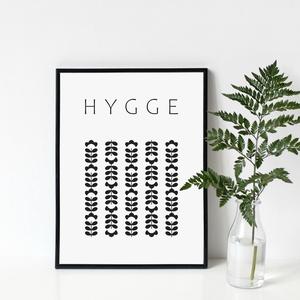 HYGGE poszter - skandináv stílusú, modern, minimalista poszter nagy méretben / 50 x 70 cm, Otthon & lakás, Dekoráció, Kép, Lakberendezés, Falikép, Képzőművészet, Illusztráció, Fotó, grafika, rajz, illusztráció, HYGGE poszter a skandináv életérzés szerelmeseinek\n\nA hygge [ hüge ] egy dán kifejezés, melyet nem k..., Meska
