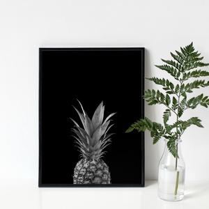 ANANÁSZ poszter - skandináv stílusú, modern, minimalista fotó poszter nagy méretben / 50 x 70 cm, Otthon & lakás, Dekoráció, Kép, Lakberendezés, Falikép, Képzőművészet, Fotográfia, Fotó, grafika, rajz, illusztráció, ANANÁSZ poszter\n\nA légiesen könnyed, szellős elrendezés és a drámai hatású, nehéz, sötét tónusok ket..., Meska