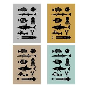 ÉLET A TENGERBEN poszter / skandináv stílusú, modern, minimalista poszter nagy méretben / 50 x 70 cm (PixMarket) - Meska.hu