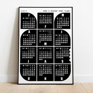 Naptár gyerekeknek / \'Alma\' / skandináv stílusú, minimalista fali naptár, Otthon & Lakás, Dekoráció, Falinaptár & Öröknaptár, Fotó, grafika, rajz, illusztráció, Naptár gyerekeknek a 2021-es évre / \'Alma\' / skandináv stílusú, minimalista fali naptár\n\nSaját terve..., Meska