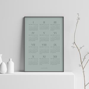 Elegáns naptár poszter - letisztult, skandináv stílusú minimalista falinaptár 2021-re, gyönyörű színekben, Otthon & Lakás, Dekoráció, Falinaptár & Öröknaptár, Fotó, grafika, rajz, illusztráció, Elegáns naptár poszter - letisztult, skandináv stílusú minimalista falinaptár 2021-re, gyönyörű szín..., Meska