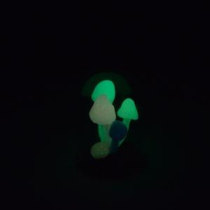 Miniatűr varázsgombák üveg alatt, Dekoráció, Otthon & lakás, Ékszer, Nyaklánc, Gyurma, Szobrászat, Meglepő dekoráció vagy varázslatos játék lehet egy babaházban ez a búra alá rejtett gombacsokor.\nAjá..., Meska