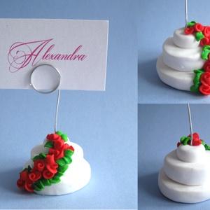 AKCIÓ 2+1 ajándék emeletes torta fényképtartó kisüthető gyurmából (PixyHill) - Meska.hu