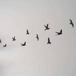 Freedom - Madarak, Egyéb, Otthon & lakás, Dekoráció, Falmatrica, Mindenmás, Fotó, grafika, rajz, illusztráció, Mi jobb a falmatricánál? Az újra felhasználható falmatrica! Ezek a közel 1mm vastag, rugalmas madárk..., Meska