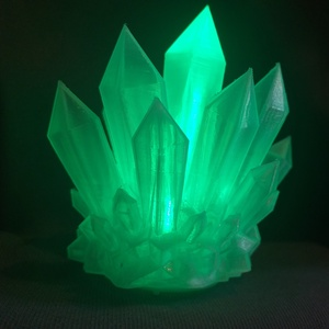 Világító Ásvány, Hangulatlámpa, Lámpa, Otthon & Lakás, Fotó, grafika, rajz, illusztráció, Mindenmás, Fényes felületű, áttetsző fehér környezetbarát műanyagból 3D nyomtatással készült lámpa.\nBelsejében ..., Meska
