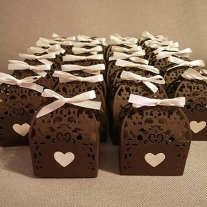Köszönetajándék dobozok, Esküvő, Emlék & Ajándék, Köszönőajándék, Fotó, grafika, rajz, illusztráció, Ezek a dobozok konkrét felhasználó elképzelése alapján készültek!, Meska