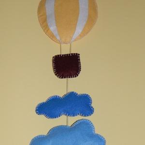 Filc léggömb ajtódísz, Gyerek & játék, Baba-mama kellék, Gyerekszoba, Baba falikép, Varrás, Ez a kedves kis hőlégballon díszítheti a gyerekszoba ajtaját, de jól mutat a gyerekágy felett is, vi..., Meska