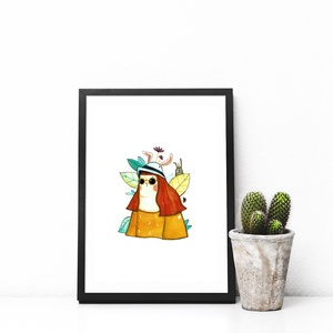 \'A nyúl\' - illusztráció, Művészet, Művészi nyomat, Festészet, Papírművészet, A5 méretű művészi nyomat, mely limitált példányszámban készült 250 gr-os Rives Tradition Bright Whit..., Meska