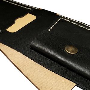 Pénztárca kártyatartóval aprótartóval - Fekete marhabőr - Férfi tárca - Marsabit - Polokov, Férfiaknak, Táska, Táska, Divat & Szépség, Pénztárca, tok, tárca, Pénztárca, Varrás, Bőrművesség, * Anyaga: fekete marhabőr, bézs bőrvarró cérna és antikolt sárgaréz szerelék\n\n* 1 papírpénztartó rek..., Meska
