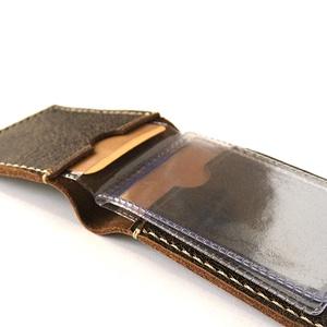 Lapozható kártyatartó - Diákigazolvány tok -  Bérlettartó - Marsabit - Polokov Leather, Férfiaknak, Táska, Táska, Divat & Szépség, Pénztárca, tok, tárca, Naptár, jegyzet, tok, Varrás, Bőrművesség, * Anyaga: rusztikus barna marhabőr\n\n* 2 bőr rekesz: (minimum 4-4 db kártya férőhely műanyag tok nélk..., Meska