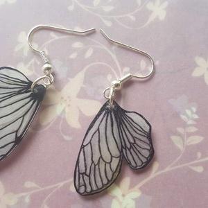 Zsugorka pillangó szárny fülbevaló (polymuri) - Meska.hu