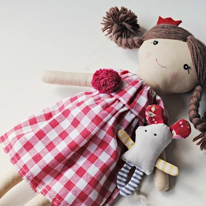 Zita Baba, Textilbaba, játékbaba, rongybaba , Gyerek & játék, Játék, Baba, babaház, Varrás, Baba-és bábkészítés, Zita 36 cm magas öltöztethető textilbaba. Arca részben kézzel hímzett, részben festett, haja kézi va..., Meska