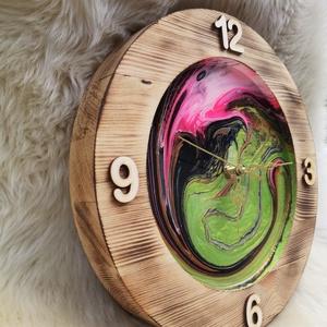 Fluid art fali óra - otthon & lakás - dekoráció - falióra & óra - Meska.hu