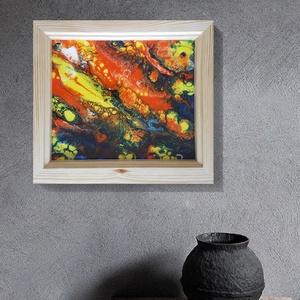 """Fluid art festmény, Akril, Festmény, Művészet, Festészet, Famegmunkálás, Secret Hideaway \""""Titkoss búvóhely\"""" című egyedi technikával készült eredeti akril festmény. A színek ..., Meska"""
