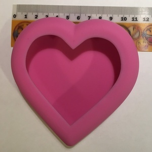 Gipsz öntőforma szív, Szerszámok, eszközök, Sablonok, Gipszöntés, Gipsz öntőforma, amellyel könnyedén készíthetsz gipszből kb. 11,5*11,5 cm-es dekorálható szíveket...., Meska
