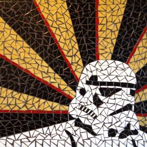 REKREDENC - Star Wars mozaik kép RENDELHETŐ!!!, Otthon & Lakás, Kép & Falikép, Dekoráció, Rohamosztagos mozaik kép. RENDELHETŐ, akár más színösszeállításban is!  Ha van kedvenc autód vagy ak..., Meska