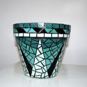 REKREDENC - Mozaik virágcserép, kaspó (popdeco) - Meska.hu