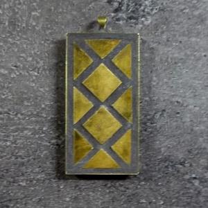 Mozaik medál - réz tégla  INGYEN POSTA!, Medál, Nyaklánc, Ékszer, Ékszerkészítés, Mozaik, Kézzel készült minimalista stílusú mozaik medál,gyönyörűen oxidált réz mozaikkal fekete vagy bordó f..., Meska