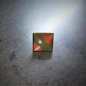 """Festettüveg gyűrű \""""Army\"""" (2,5x2,5 cm)  - INGYEN POSTA, Ékszer, Gyűrű, Üveglencsés gyűrű, Ékszerkészítés, Festett tárgyak, Kézzel készült, festett üveg gyűrű  (2,5x2,5 cm)\n\nMás színösszeállításban is kérhető. \n\n..., Meska"""