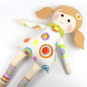Lány Baba, Rongybaba, Játékbaba,  Textiljáték -Lotti, Játék & Gyerek, Baba, Baba & babaház, Boltomban mindent természetes eredetű, részben pedig újrahasznosított vagy organikus alapanyagokból ..., Meska