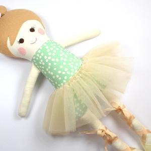 Balerina Baba Rongybaba Játékbaba  Textiljáték Amélia (poppydolls) - Meska.hu