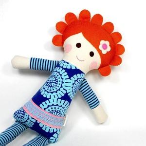 Lány Baba, Rongybaba, Játékbaba,  Textiljáték - Lujzi (poppydolls) - Meska.hu