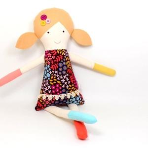 Lány Baba Rongybaba Játékbaba  Textiljáték Klementina, Játék & Gyerek, Baba, Baba & babaház, Boltomban mindent természetes eredetű, részben pedig újrahasznosított vagy organikus alapanyagokból ..., Meska