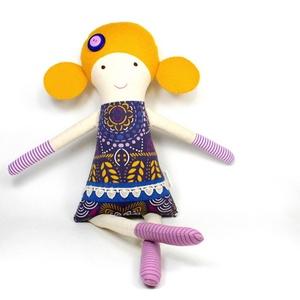 Lány Baba Rongybaba Játékbaba  Textiljáték Klementina, Játék, Gyerek & játék, Baba játék, Baba, babaház, Plüssállat, rongyjáték, Újrahasznosított alapanyagból készült termékek, Varrás, Boltomban mindent természetes eredetű, részben pedig újrahasznosított vagy organikus alapanyagokból ..., Meska