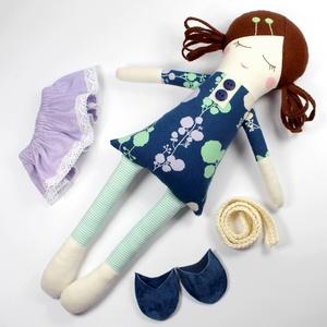 Lány Baba Rongybaba Játékbaba  Textiljáték Lili Oltöztetős Baba (poppydolls) - Meska.hu